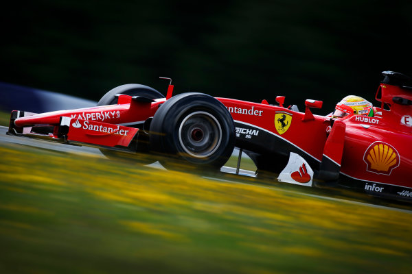 Red Bull Ring, Spielberg, Austria. Wednesday 24 June 2015. Esteban Gutierrez, Ferrari SF15-T. World Copyright: Glenn Dunbar/LAT Photographic. ref: Digital Image _W2Q6256