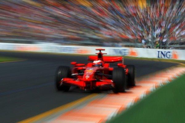 Kimi Raikkonen (FIN) Ferrari F2008.Australian Grand Prix, Rd 1, Qualifying Day, Albert Park, Melbourne, Australia, Saturday 15 March 2008.