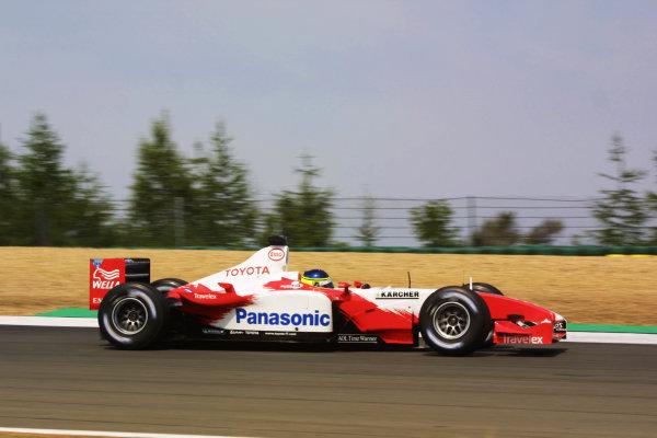 2003 European Grand Prix - Friday 1st Qualifying,Nurburgring, Germany.27thth June 2003.Cristiano da Matta, Toyota TF103, action.World Copyright LAT Photographic.Digital Image Only.