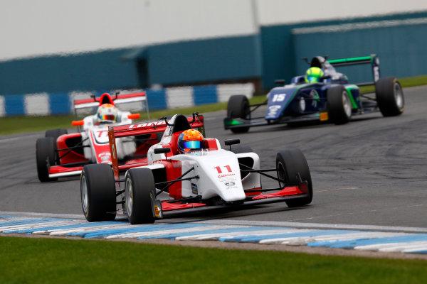 2017 BRDC British F3 Championship, Donington Park, Leicestershire. 23rd - 24th September 2017. Alex quinn Lannan Racing World Copyright: JEP/LAT Images
