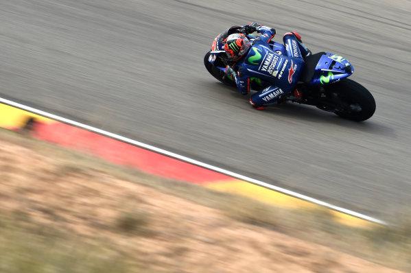 2017 MotoGP Championship - Round 14 Aragon, Spain. Friday 22 September 2017 Maverick Viñales, Yamaha Factory Racing World Copyright: Gold and Goose / LAT Images ref: Digital Image 693709