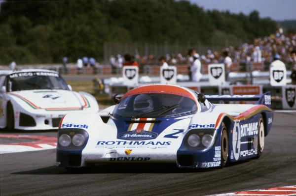 Le Mans, France. 19-20 June 1982.Jochen Mass/Vern Schuppan (Porsche 956), 2nd position, action. World Copyright: LAT Photographic.Ref:  82LM07
