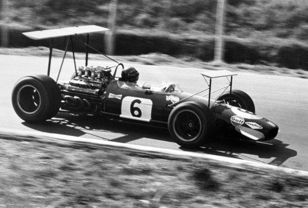 1968 Canadian Grand Prix.St Jovite, Canada. 22 September 1968.Jochen Rindt, Brabham BT26-Repco, retired, action.World Copyright: LAT PhotographicRef: Motor b&w print