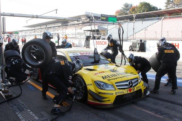 Round 10 - Hockenheim, Germany19th - 21st October 2012Pistopp David Coulthard (GBR), Muecke Motorsport, AMG Mercedes C-Coupe World Copyright:  XPB Images / LAT Photographicref: Digital Image 2399911_HiRes