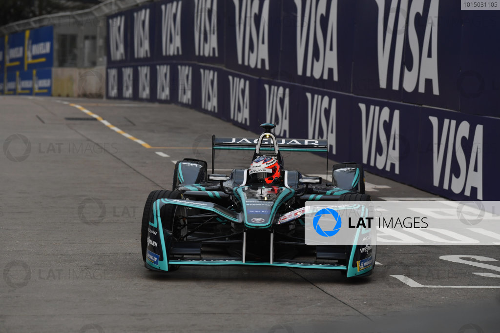 2017/2018 FIA Formula E Championship. Round 1 - Hong Kong, China. Saturday 02 December 2018. Mitch Evans (NZL), Panasonic Jaguar Racing, Jaguar I-Type II. Photo: Mark Sutton/LAT/Formula E ref: Digital Image DSC_8348
