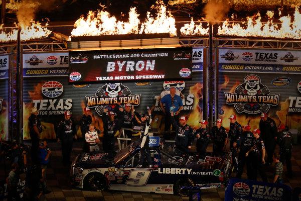 9-10 June, 2016, Fort Worth, Texas, USA William Byron, victory lane ?2016, Michael L. Levitt LAT Photo USA