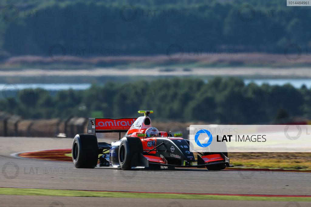 ALCANIZ (ESP) NOV 4-6 2015 - Collective test of the Formula 3.5 V8 series 2015 at Motorland Aragon. Anthoine Hubert #18 Tech 1 Racing. Action. © 2015 Diederik van der Laan  / Dutch Photo Agency / LAT Photographic
