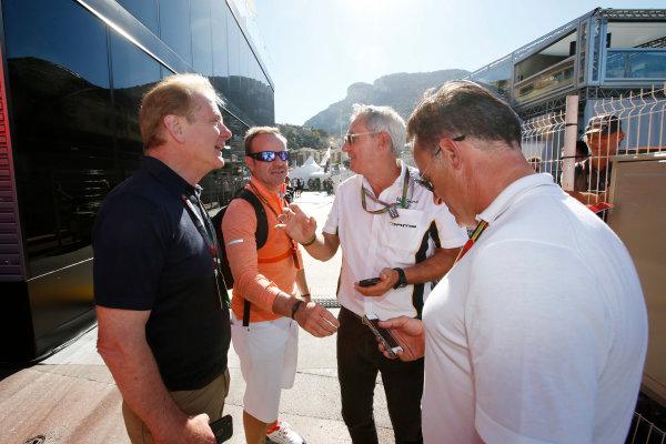 Monte Carlo, Monaco. Saturday 24 May 2014. Jonathan Palmer and Rubens Barrichello. World Copyright: Charles Coates/LAT Photographic. ref: Digital Image _N7T7562