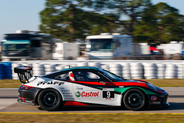 2017 Porsche GT3 Cup USA Sebring International Raceway, Sebring, FL USA Wednesday 15 March 2017 9, Scott Hargrove, GT3P, USA, 2017 Porsche 991 World Copyright: Jake Galstad/LAT Images ref: Digital Image lat-galstad-SIR-0317-14877