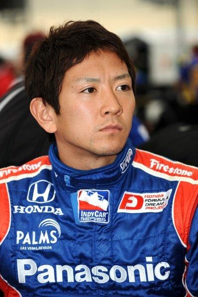 Hideki Mutoh (JPN) Andretti Green Racing. IndyCar Series, Rd15, Peak Anti Freeze 300, Chicagoland Speedway, Joliet, Illinois, USA, 29-30 August 2009.