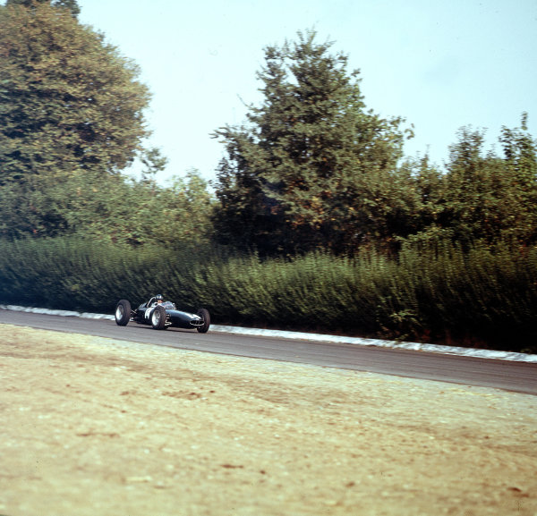 Monza, Italy.14-16 September 1962.Graham Hill (BRM P57), 1st position.Ref-3/0668.World Copyright - LAT Photographic