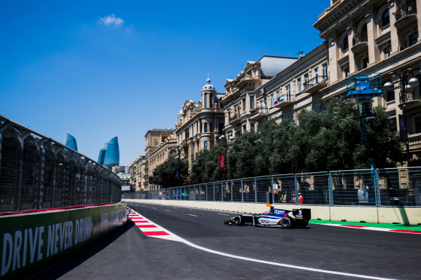 2017 FIA Formula 2 Round 4. Baku City Circuit, Baku, Azerbaijan. Friday 23 June 2017. Luca Ghiotto (ITA, RUSSIAN TIME)  Photo: Zak Mauger/FIA Formula 2. ref: Digital Image _54I9452