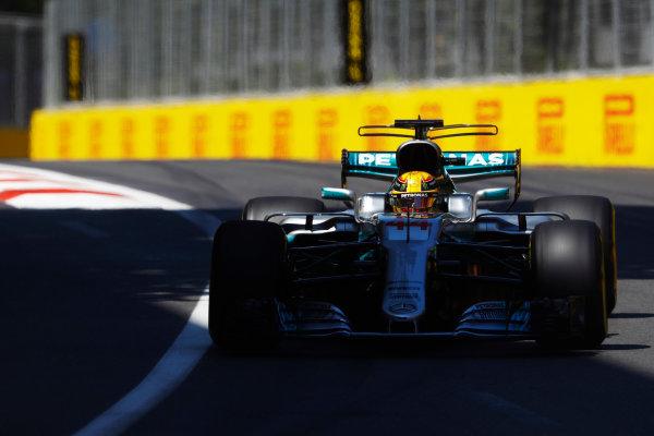 Baku City Circuit, Baku, Azerbaijan. Saturday 24 June 2017. Lewis Hamilton, Mercedes F1 W08 EQ Power+.  World Copyright: Steven Tee/LAT Images ref: Digital Image _O3I1841