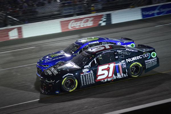 #51: Garrett Smithley, Petty Ware Racing, Chevrolet Camaro 9/11 Scheme, #15: Joey Gase, Rick Ware Racing, Chevrolet Camaro Donate Life VA
