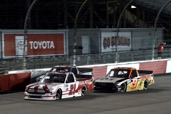 #21: Zane Smith, GMS Racing, Chevrolet Silverado #9: Codie Rohrbaugh, CR7 Motorsports Chevrolet Silverado Pray for Joshua