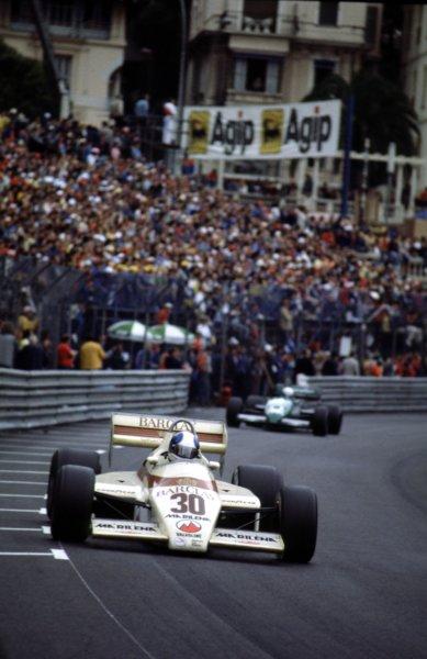 1983 Monaco Grand Prix.Monte Carlo, Monaco.12-15 May 1983.Chico Serra (Arrows A6 Ford) 7th position.World Copyright - LAT Photographic