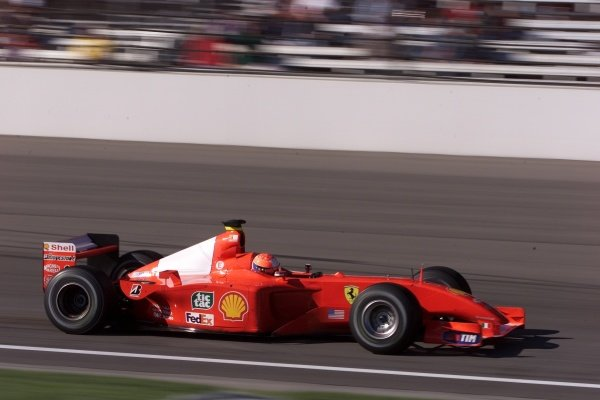 Michael Schumacher(GER) Ferrari F1 2001 United States Grand Prix, Indianapolis 30 September 2001. DIGITAL IMAGE