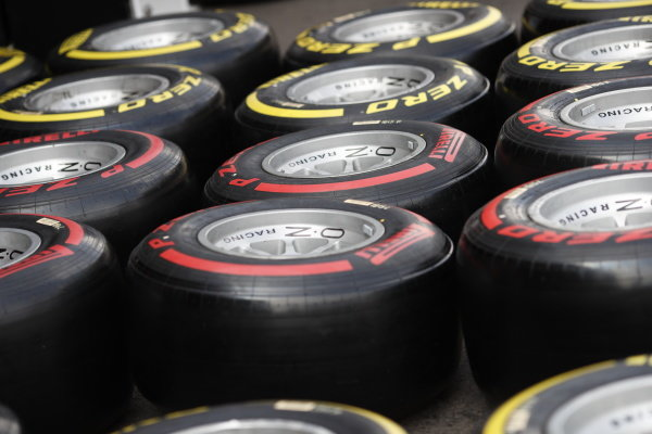SPA-FRANCORCHAMPS, BELGIUM - AUGUST 29: Pirelli Tyres during the Spa-Francorchamps at Spa-Francorchamps on August 29, 2019 in Spa-Francorchamps, Belgium. (Photo by Joe Portlock / LAT Images / FIA F2 Championship)