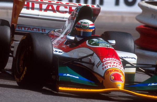 1993 Monaco Grand Prix.Monte Carlo, Monaco.20-23 May 1993.Alessandro Zanardi (Lotus 107B Ford) 7th position.Ref-93 MON 07.World Copyright - LAT Photographic