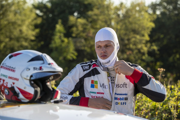 Ott Tanak won Rallye Deutschland in 2017, driving an M-Sport Ford Fiesta. Now in a Toyota Yaris in 2018, Tanak is aiming for a repeat result this year.