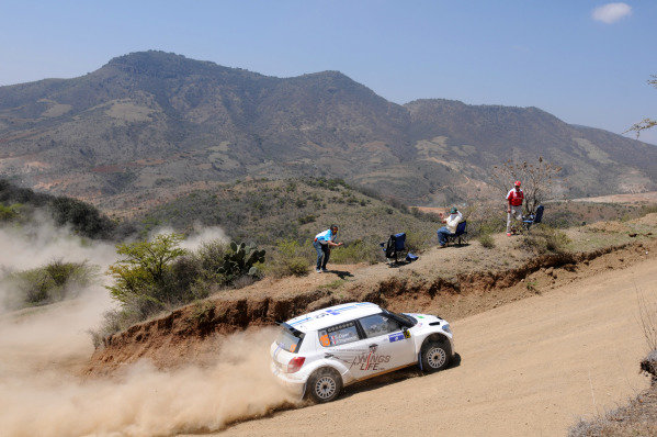 Sebastien Ogier (FRA) and Julien Ingrassia (FRA), Skoda S2000, on stage 16.FIA World Rally Championship, Rd3, Rally Guanajuato Mexico, Leon, Mexico, Day Two, Saturday 10 March 2012.