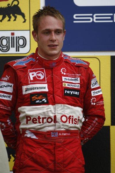 2007 GP2 Series. Round 7.Hungaroring, Budapest, Hungary 5th August 2007. Sunday Race.Adam Carroll (GBR, Petrol Ofisi FMS International). World Copyright: Andrew Ferraro/GP2 Series Media Service.ref: Digital Image_H0Y1135