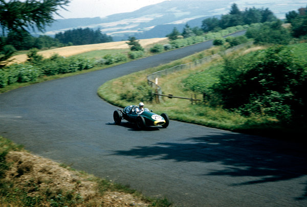 1957 German Grand Prix F2 Class.Nurburgring, Germany.2-4 August 1957.Dick Gibson (Cooper T43 Climax).Ref-57 GER 15.World Copyright - LAT Photographic