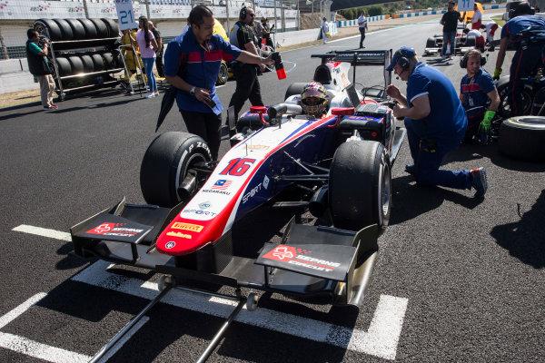 2017 FIA Formula 2 Round 10. Circuito de Jerez, Jerez, Spain. Saturday 7 October 2017. Nabil Jeffri (MAS, Trident).  Photo: Andrew Ferraro/FIA Formula 2. ref: Digital Image _FER1526