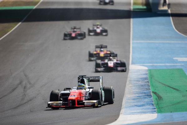 2017 FIA Formula 2 Round 10. Circuito de Jerez, Jerez, Spain. Sunday 8 October 2017. Sergio Sette Camara (BRA, MP Motorsport).  Photo: Andrew Ferraro/FIA Formula 2. ref: Digital Image _FER3398