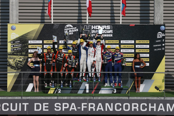 2017 European Le Mans Series  Spa-Franchorchamps, Belgium 22nd-24th September 2017 P2 Podium  World copyright. JEP/LAT Images