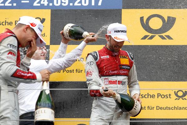 2017 DTM Round 8  Red Bull Ring, Spielberg, Austria  Sunday 24 September 2017. Podium: René Rast, Audi Sport Team Rosberg, Audi RS 5 DTM  World Copyright: Alexander Trienitz/LAT Images ref: Digital Image 2017-DTM-RBR-AT3-2796