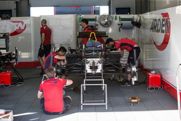 2017 GP3 Series Round 7.  Circuito de Jerez, Jerez, Spain. Thursday 5 October 2017. Arden garage Photo: Andrew Ferraro/GP3 Series Media Service. ref: Digital Image _FER8148