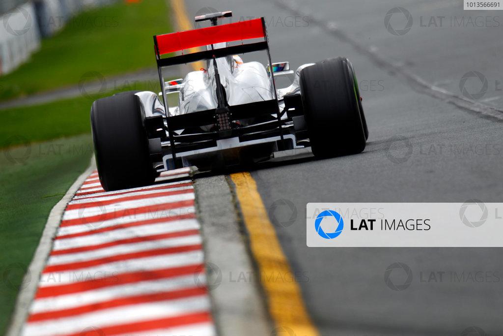 Albert Park, Melbourne, Australia 25th March 2011. Lewis Hamilton, McLaren MP4-26 Mercedes. Action.  World Copyright: Glenn Dunbar/LAT Photographic ref: Digital Image _G7C3156