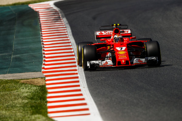 Circuit de Catalunya, Barcelona, Spain. Saturday 13 May 2017. Kimi Raikkonen, Ferrari SF70H. World Copyright: Steven Tee/LAT Images ref: Digital Image _O3I4713