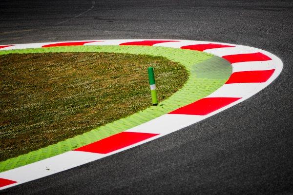 2017 FIA Formula 2 Round 2. Circuit de Catalunya, Barcelona, Spain. Thursday 11 May 2017. Kerbs. Photo: Zak Mauger/FIA Formula 2. ref: Digital Image _54I6848