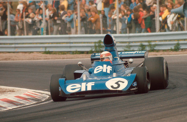 1973 Dutch Grand Prix.Zandvoort, Holland.27-29 July 1973.Jackie Stewart (Tyrrell 006 Ford) 1st position.Ref-73 HOL 09.World Copyright - LAT Photographic