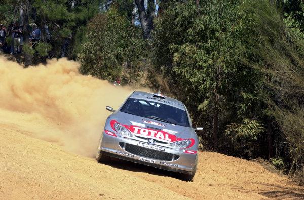 2001 World Rally ChampionshipTelstra Rally Australia, Perth, WA. 1-4 November 2001.Didier Auriol during shakedown.Photo: Ralph Hardwick/LAT