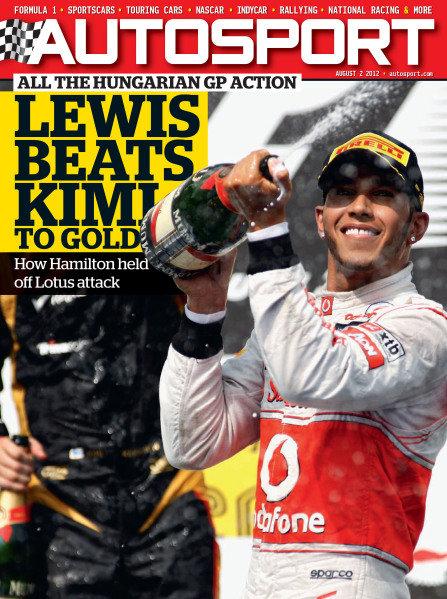 Cover of Autosport magazine, 2012