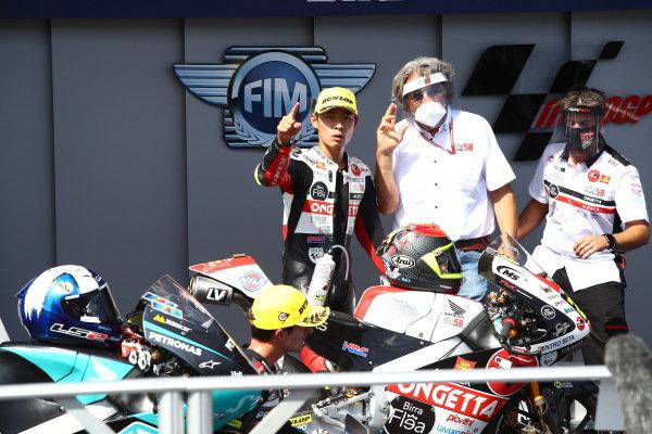 Race winner Tatsuki Suzuki, SIC58 Squadra Corse.