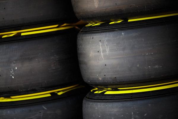 Pirelli tyres.