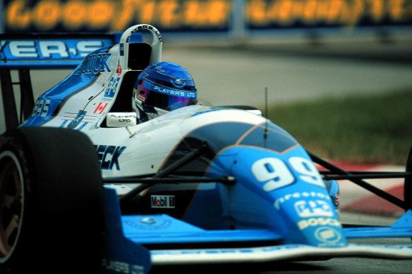 Detroit, Michigan, USA. 11th June 1995. Greg Moore, Players Forsythe Racing. World - Michael L. Levitt/LAT Photographic