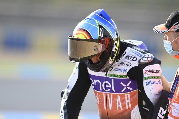 Xavier Simeon, LCR E-Team after the crash.