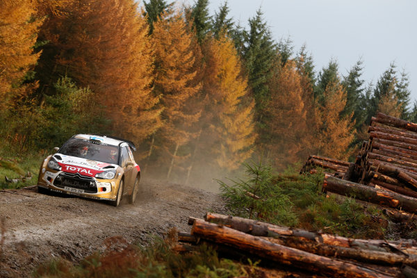 2013 FIA World Rally Championship Round 13-Wales Rally GB 14-17 November 2013 Mikko Hirvonen, Citroen WRC, Action.  Worldwide Copyright: McKlein/LAT
