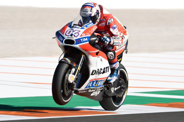 2017 MotoGP Championship - Round 18 Valencia, Spain  Friday 10 November 2017 Andrea Dovizioso, Ducati Team  World Copyright: Gold and Goose Photography/LAT Images  ref: Digital Image 704533