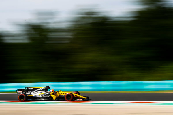 Hungaroring, Budapest, Hungary.  Wednesday 02 August 2017. Robert Kubica, Renault R.S.17. World Copyright: Joe Portlock/LAT Images  ref: Digital Image _R3I4890
