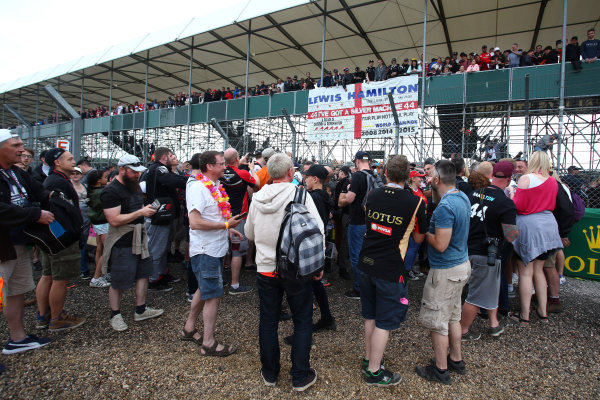 Silverstone, Northamptonshire, UK.  Thursday 13th July 2017. Fans at the British Grand Prix  World Copyright: JEP/LAT Images