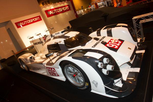 Autosport International Exhibition. National Exhibition Centre, Birmingham, UK. Thursday 8 January 2015. Porsche 919 on the Autosport stand. World Copyright: LAT Photographic. ref: Digital Image EL0G1795