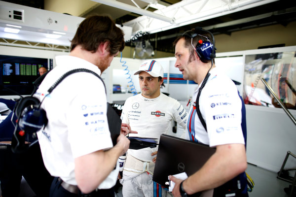 Interlagos, Sao Paulo, Brazil. Friday 7 November 2014. Felipe Massa, Williams F1. World Copyright: Glenn Dunbar/LAT Photographic. ref: Digital Image _W2Q0920