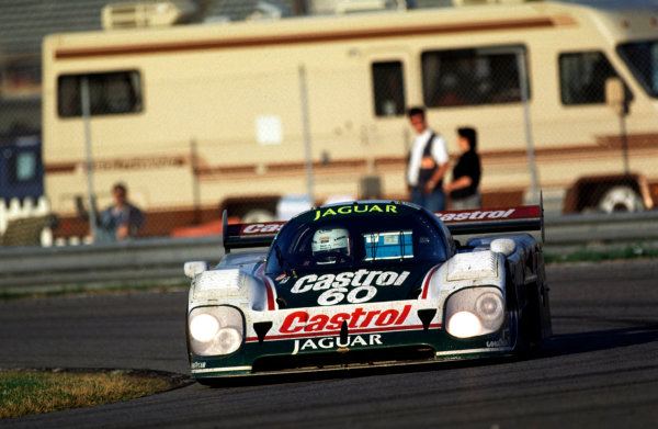 1990 IMSA Championship. Daytona 24 Hours, Florida, USA. 3rd - 4th February 1990. Price Cobb / John Nielsen / Martin Brundle (Jaguar XJR-12), 2nd position, action.  World Copyright: LAT Photographic.  Ref:  90IMSA DAY06.