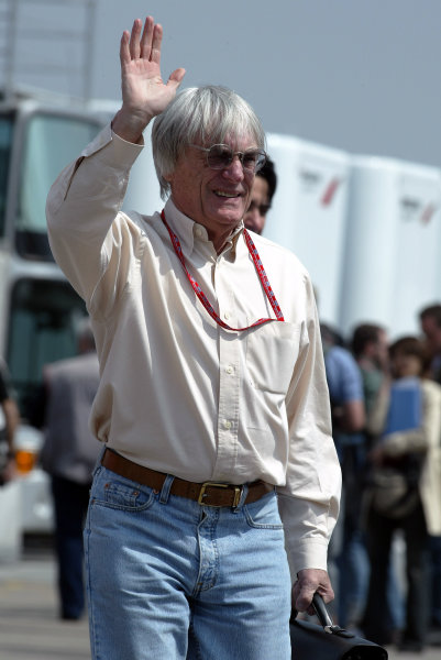 2003 San Marino Grand Prix - Friday 1st QualifyingImola, Italy. 18th April 2003Bernie Ecclestone - portrait.World Copyright: Steve Etherington/LAT Photographic ref: Digital Image Only